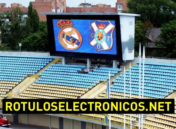Marcadores de fútbol electrónicos para estadios